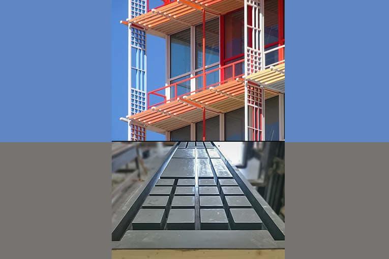 Pour la tour La Marseillaise, Techni-Moulage a fourni les moules de préfabrication des éléments de façade en Bfup. [©Techni-Moulage]