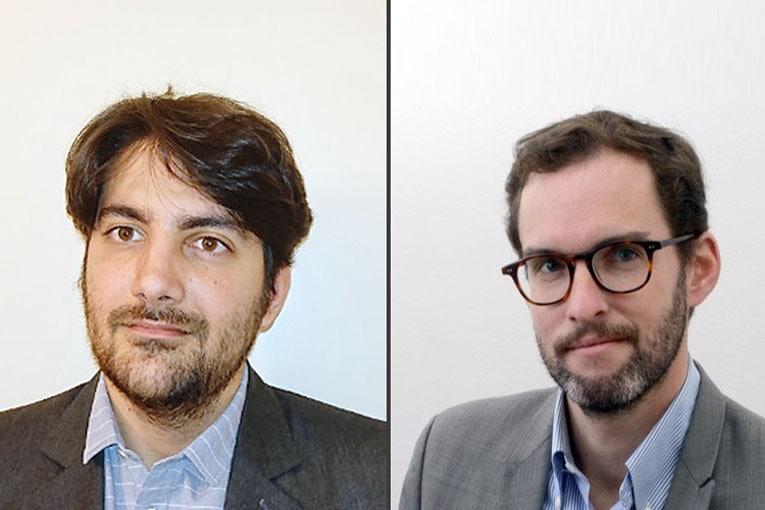 De gauche à droite, Benjamin Bordonado et Olivier Stéphan, futur et ancien délégués régionaux SNBPE et SNPB Bretagne - Centre - Pays de la Loire. [©DR]