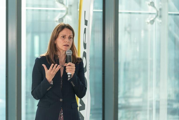 Charlotte Famy, directrice générale de Saint-Gobain Weber France. [©ACPresse]