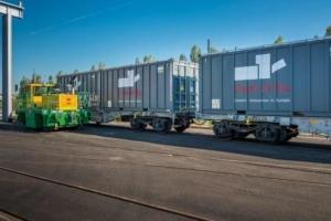 Cem'In'Eu a établi un accord avec Fret SNCF pour la traction ferroviaire et dispose de son propre embranchement sur son site d'Aliénor Ciments. [©ACPresse]