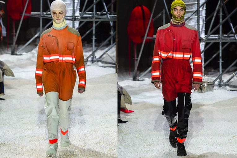 Pour son défilé de 2018, Calvin Klein a pioché son inspiration dans les vêtements de travail. [©Calvin Klein]