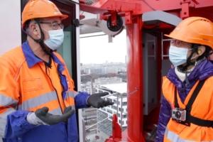 Le 16 décembre dernier, Anne Guichard, 66 ans, a grimpé à 58 m de hauteur. [©Silver Alliance]