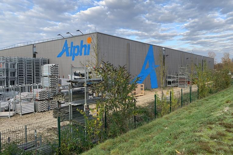 Plate-forme logistique de Saint-Genix-Les-Villages d'Alphi, site sur lequel sera réalisé le projet présenté au fonds d'accélération aux investissements industriels dans les territoires. [©Alphi]
