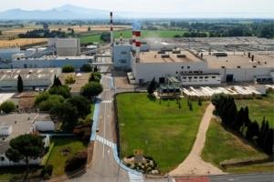 Vue aérienne de l'usine d'Orange du groupe Isover. [©Isover]