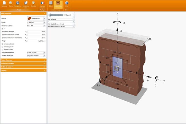 L'actualisation du logiciel de calcul Heco HCS 4.0 intègre désormais le dimensionnement de chevilles dans la maçonnerie.