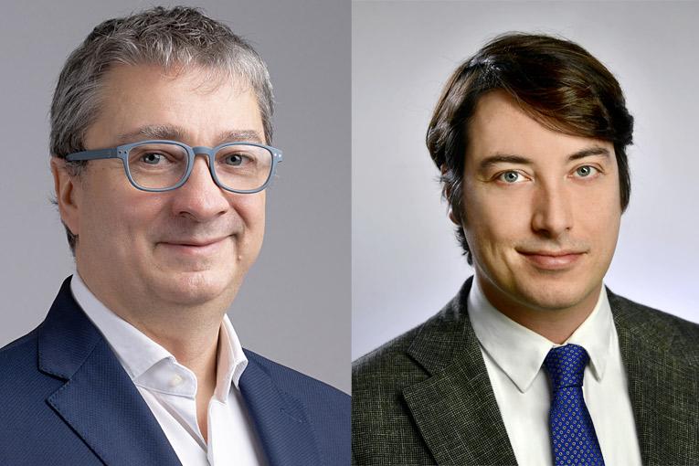 Daniele Cerutti, directeur France et Europe du Sud Iko Enertherm et Dimitris Verdelis, directeur marketing Europe Iko Enertherm. [©Iko]