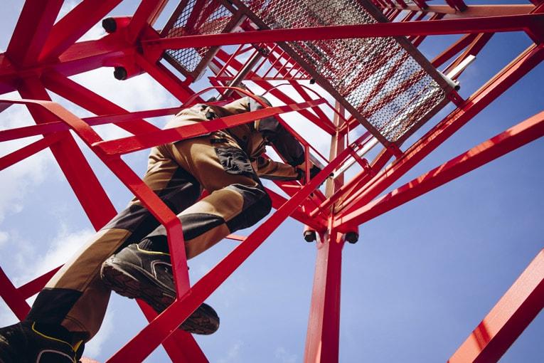 Les EPI Molinel peuvent être mis à rude épreuve sur les chantiers. [©Molinel]
