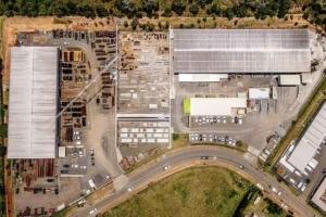 Le site de production de NC Préfa se concentre sur un terrain de 3 ha et compte 4 500 m2 de surfaces couvertes. [©NC Prefa]