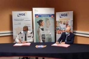 Le groupe NGE et le SMV ont signé une convention de partenariat afin de soutenir des jeunes vers le chemin de l'emploi. [©Groupe NGE]