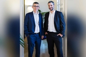De gauche à droite, Roland Le Roux, nouveau président du groupe BTP Consultants, et Jean-François Baron, nouveau président de BTP Consultants. [©BTP Consultants]