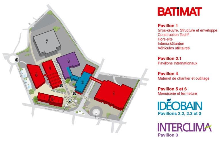 Le Mondial du Bâtiment occupera 6 halls du Parc des expositions de la porte de Versailles, à Paris. [©Reed Expositions France]