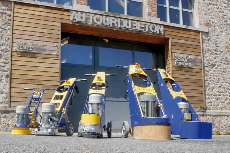 ATDB dispose d'une large gamme de matériels pour la rénovation et l'entretien des dallages industriels. [©ATDB]