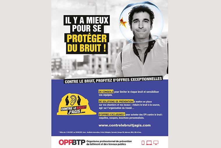 """Affiche de la campagne de sensibilisation """"Contre le bruit, j'agis"""""""