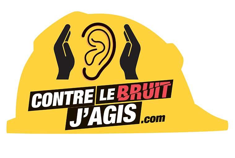 """Logo de la campagne de sensibilisation """"Contre le bruit, j'agis"""""""