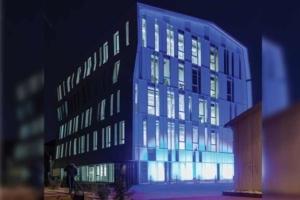 Signé Architecture-Studio, le nouveau bâtiment Louis Vicat constitue le nouveau repère de l'Ecole spéciale des travaux publics (ESTP). [©ACPresse]