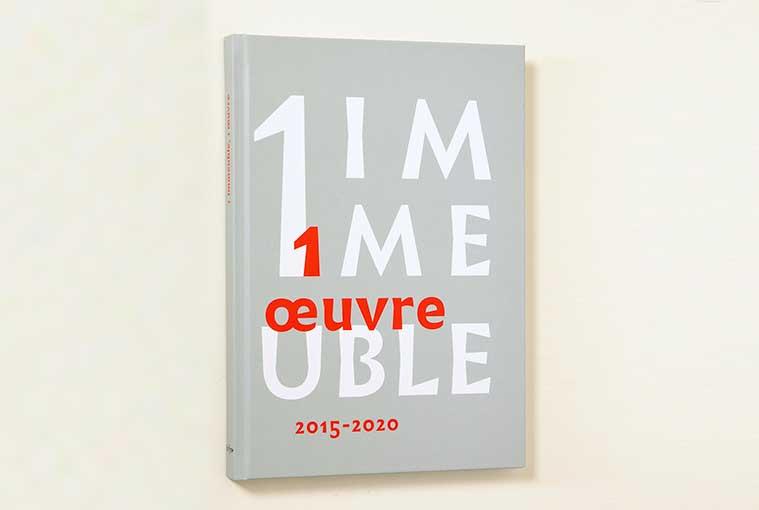 """L'ouvrage """"1 immeuble, 1 œuvre 2015-2020"""" a été écrit par Alexia Guggémos."""