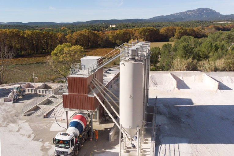 La nouvelle unité de production de BPE Cemex de Prades-le-Lez (34) est signée MG Lilienfeld. [©Cemex]