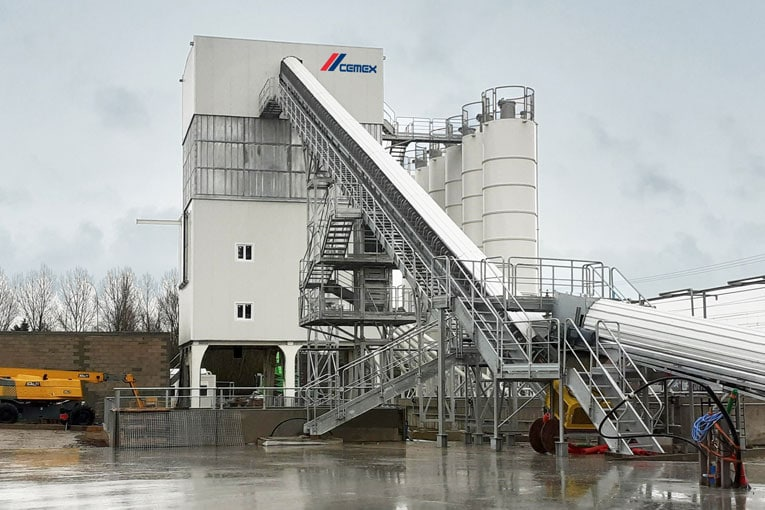 A Toulouse-Sud, Cemex a fait appel à Elkon pour la construction de la nouvelle centrale à béton. [©Cemex]