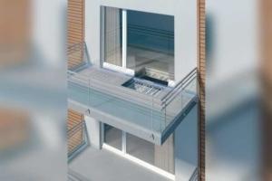 Localisation des rupteurs au niveau des balcons en ITE. [©Schöck]