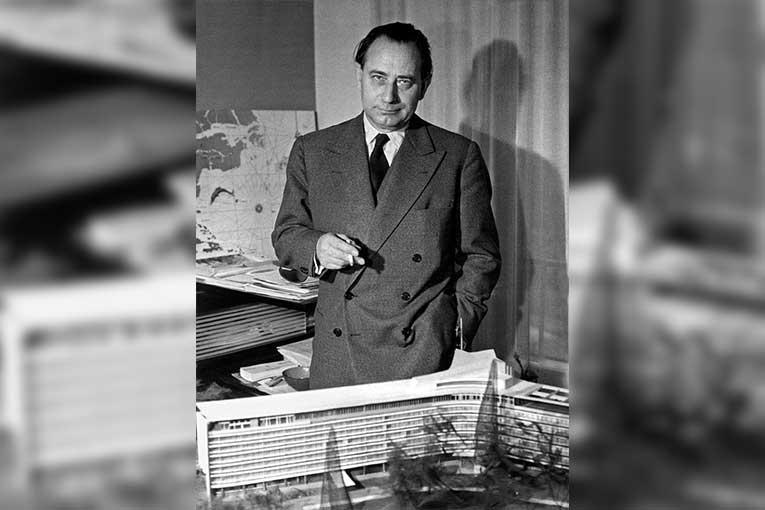 L'architecte et enseignant suisse, Jean Tschumi, a principalement œuvré après la Seconde Guerre mondiale, dans les années 1950. [©Wiki Commons]
