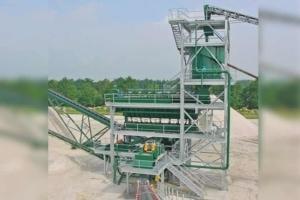 Le classificateur Akorel d'AKW s'installe en bout de la ligne de traitement des sables. [©AKW]