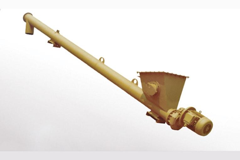 La vis tubulaire volumétrique ESV permet de doser l'apport en ciment. [©Wam Group]