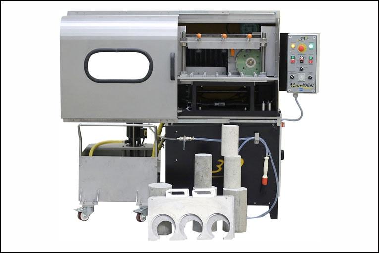 Nouvelle rectifieuse à éprouvettes en béton Multi-Matic, construite par l'industriel 3R. [©3R]