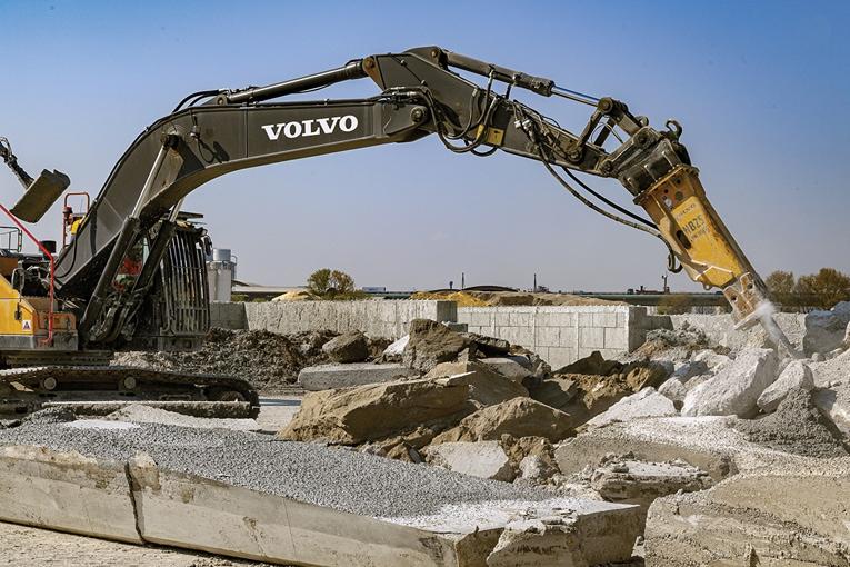 Le recyclage des bétons représente un élément important de l'économie circulaire mise en place dans Cemex. [©Cemex]