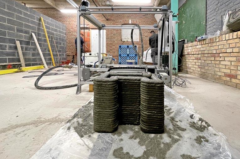 A Roubaix, le lycée Louis Loucheur vient d'intégrer l'impression 3D béton dans son cursus de formation. [©Lycée Louis Loucheur]