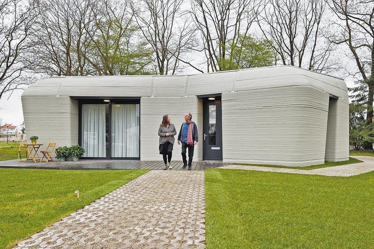Aux Pays-Bas, Saint-Gobain a livré sa première maison imprimée en 3D béton. [©Saint-Gobain]