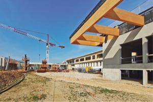 Le futur collège Voltaire alimenté en bétons par Cemex. [©Cemex]