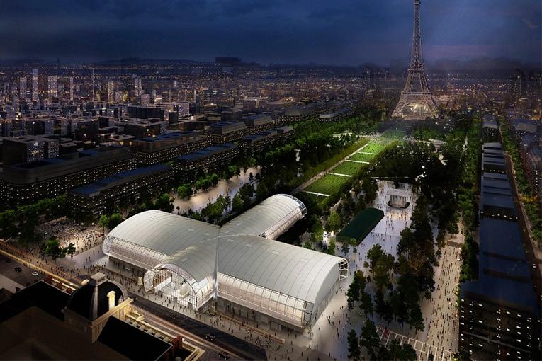 Durant les travaux du Grand Palais, un bâtiment éphémère prend le relais ce mois de mai. [© Wilmotte&Associés Architectes]