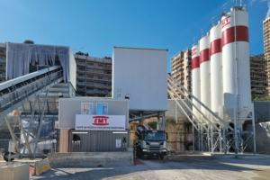EMT vient de mettre en service une nouvelle centrale à béton sur le site du chantier Mareterra, à Monaco. [©EMT]