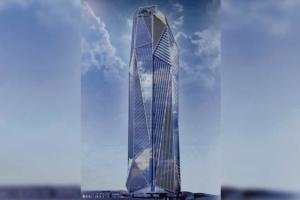 Imaginée par l'Atelier Jean Nouvel, la tour Hekla - dite aussi Rose de Cherbourg - prend la forme d'une composition prismatique en contraste avec la plupart des immeubles voisins orthogonaux ou parallélépipédiques... [©Ateliers Jean Nouvel]