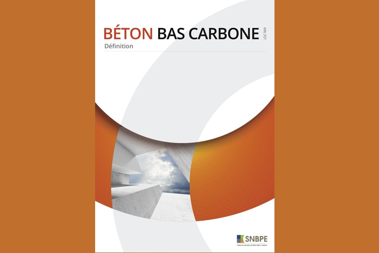 Le SNBPE a conçu un document pour une compréhension approfondi du béton bas carbone. [©SNBPE]