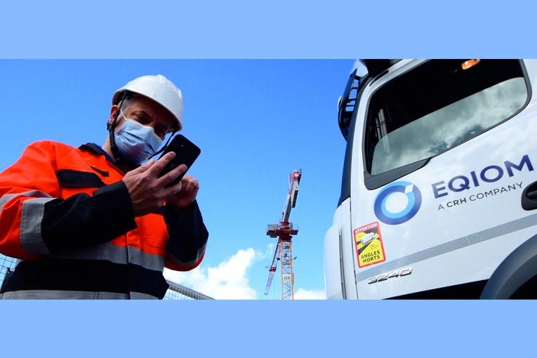 L'application mobile Digibéton est téléchargeable par les clients Eqiom depuis Android et Apple. [©Eqiom]