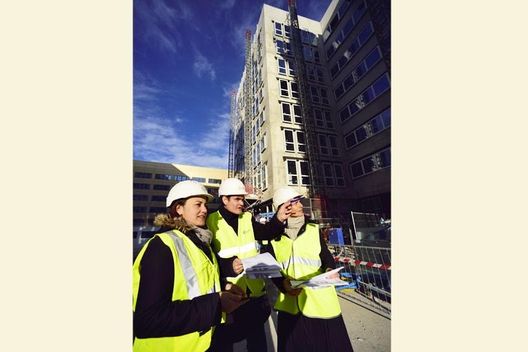 Collaborateurs d'Egis sur chantier. [©Mario Renzi]