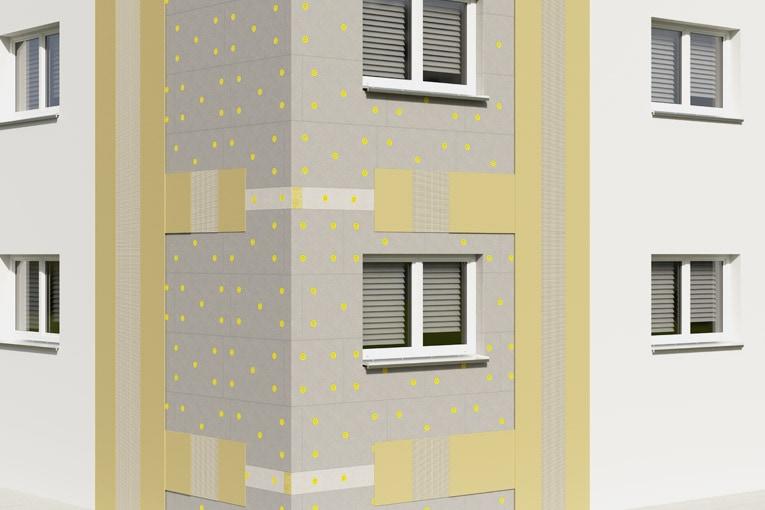 Exemple de mise en œuvre de Sto-Speedlamelle Typ II Plus. [©Sto]