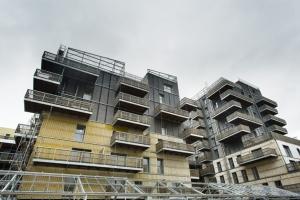 """Isover, Placo et Isonat comptent plusieurs références. Notamment, le projet """"Sensations"""" à Strasbourg, premier programme de structure bois en France. [©Bouygues Immobilier et Koz Architecture]"""