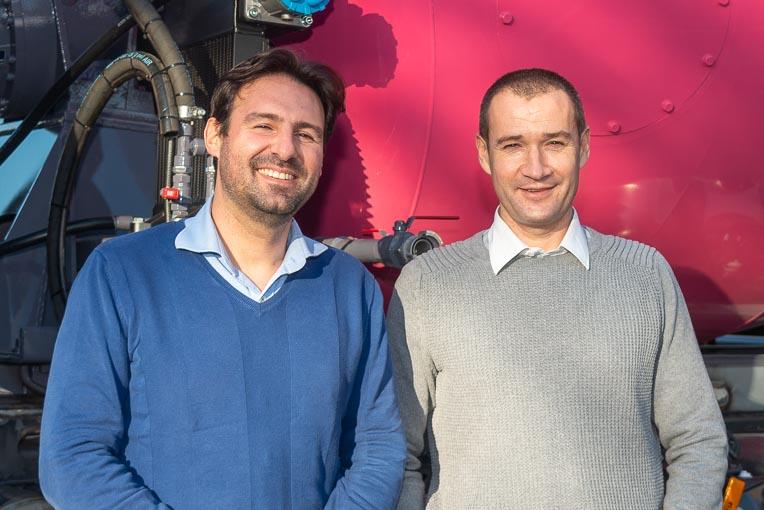 De gauche à droite, Sébastien Menourie, président de Laloyeau, et Christophe Libner, technico-commercial toupies. [©ACPresse]