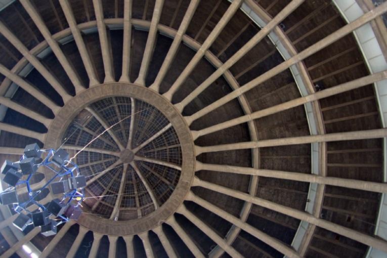 Le dôme en béton armé avec sa lanterne (une petite coupole d'acier et de verre) représentait en 1913 la mise en pratique de solutions structurelles d'avant-garde. [©DR]