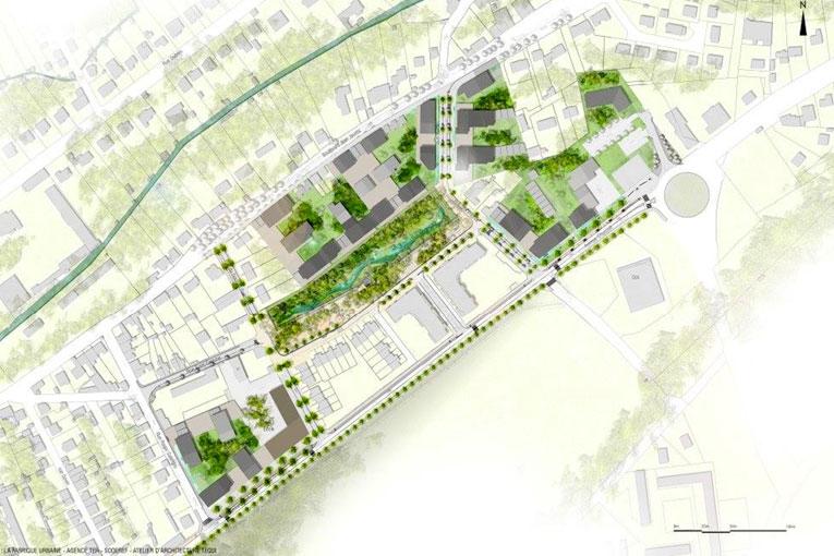 Plan de la future Zac le Square. [©La Fabrique Urbaine/Agence Ter /Soderef/Atelier d'architecture Tequi]