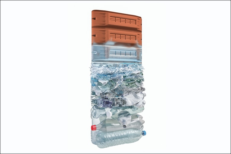 KP1 présente un tout nouvel entrevous fabriqué sur la base de matériaux recyclés.