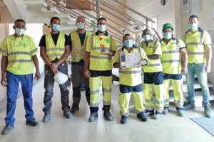 Les équipes de Teralta Ciment Réunion ont mené à bien, en interne, une campagne de réduction des énergies.[©Audemard]