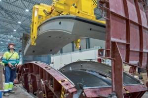 CBE Groupe installe des usines de fabrication de voussoirs et assure la construction de moules de préfabrication. [©CBE Groupe]