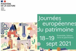 Les journees du patrimoine auront lieu du 18 au 19 septembre 2021