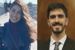 Sara Al Haj Sleiman, vainqueur du prix RSE et Christian Marcelo Martín, lauréat de la catégorie innovation technologique