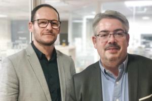 Portraits d'Axel Bermond, directeur commercial de Cemexa, et de Marc Plançon, directeur adjoint de la BU Béton du groupe Chryso.