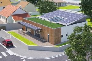 """La maison """"Concept 2020"""" de Maisons France Confort. [©Dessin Maisons France Confort]"""