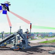 Organisation d'un chantier avec guidage 3D par AutoPilot Field Rover Wirtgen.